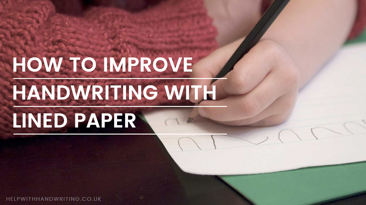 Improve handwriting with lined paper