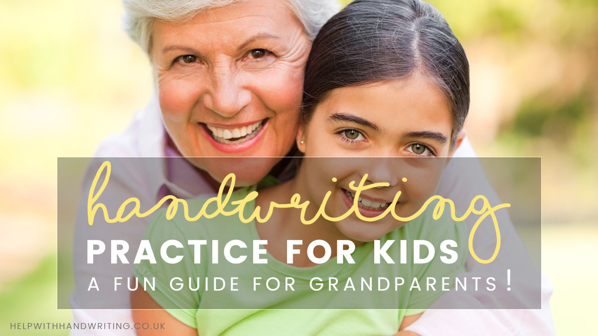 Handwriting practice for kids. A fun guide for grandparents!