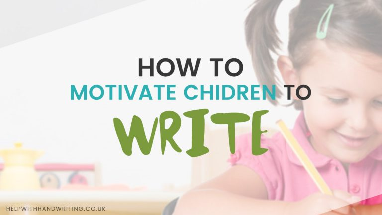 Awesome Tip: How to motivate children to write