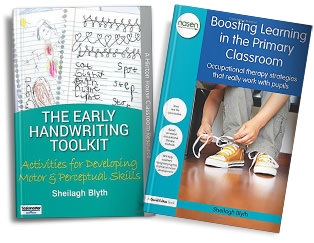 Help With Handwriting books by Sheilagh Blyth, Childrens Occupational Therapist