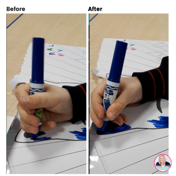 pencil grip before and after images
