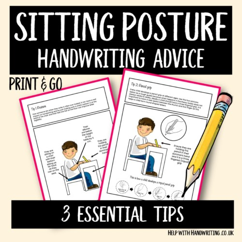 sitting posture handwriting worksheet cover image 3 essential tips
