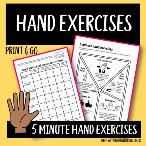 handwriting worksheet cover image 5 minute hand exercises