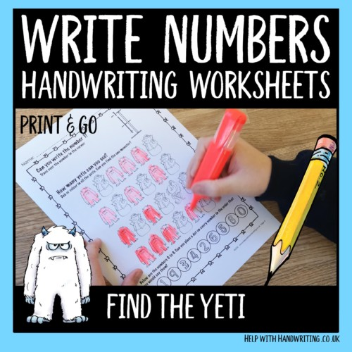 write numbers handwriting worksheets cover image find the yeti