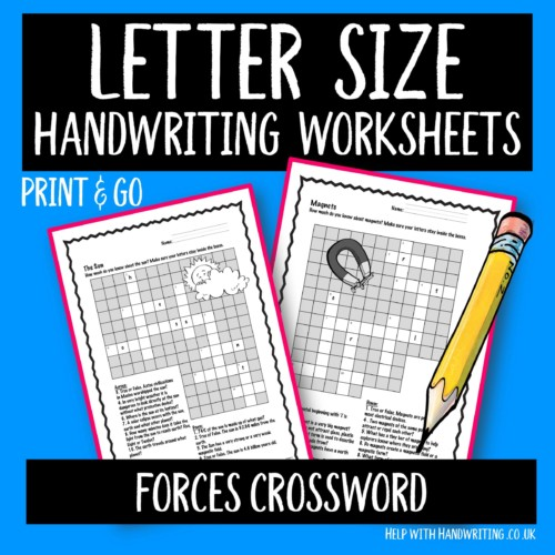 letter size handwriting worksheets cover image forces crossword