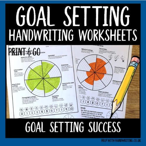 handwriting worksheets cover image goal setting success