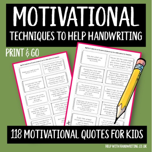 handwriting worksheet cover image 118 motivational quotes