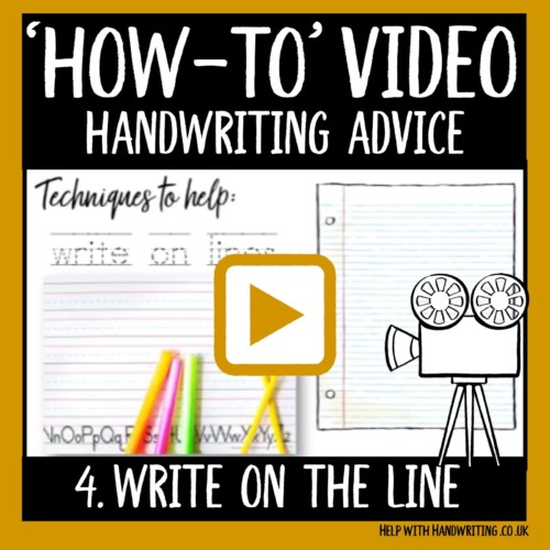 video cover image write on the line