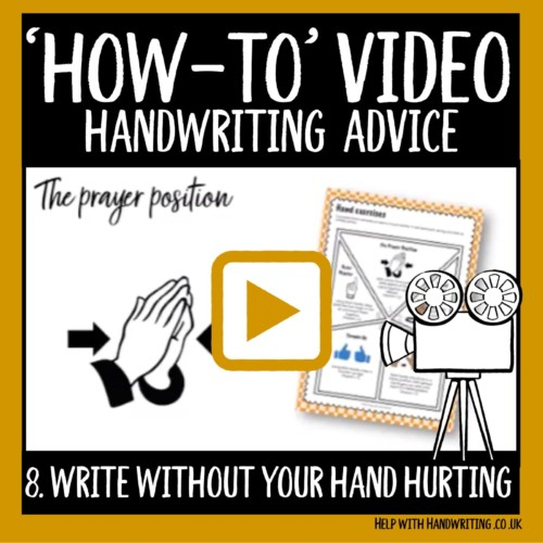 video cover image write without your hand hurting
