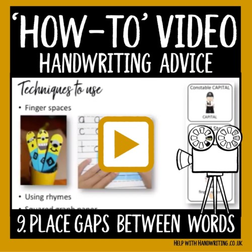 video cover image for place gaps between words