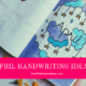 blog cover image April handwriting ideas
