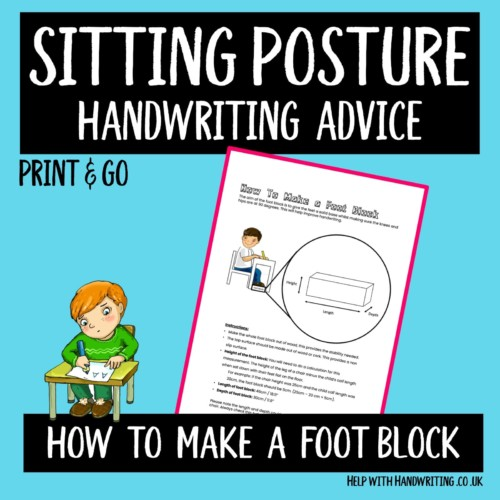 sitting posture handwriting worksheet cover image bootblack