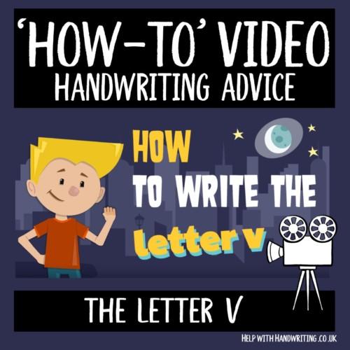 video cover image letter v