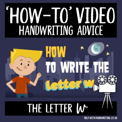 video cover image letter w