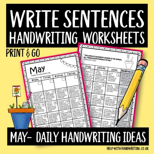 cover image-minimised May daily handwriting ideas