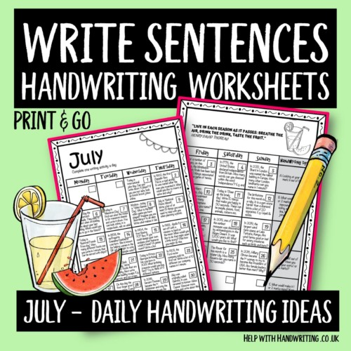 cover-minimised July daily handwriting ideas